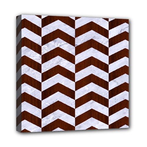 Chevron2 White Marble & Reddish Brown Wood Multi Function Bag	 by trendistuff