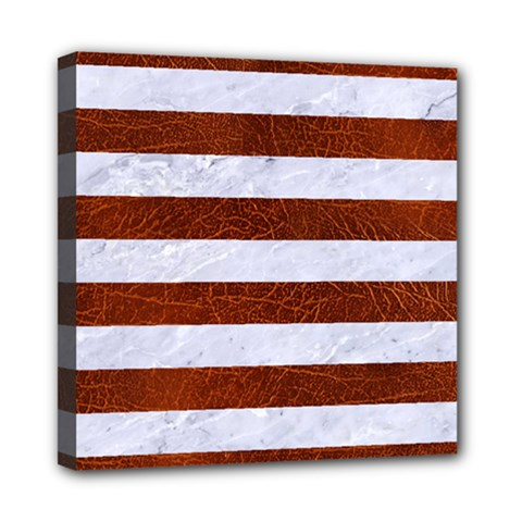 Stripes2white Marble & Reddish Brown Leather Multi Function Bag	 by trendistuff