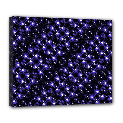 Dark Galaxy Stripes Pattern Deluxe Canvas 24  X 20   by dflcprints