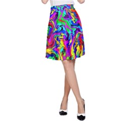 Artwork By Patrick Colorful 18 A Line Skirt