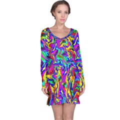 Artwork By Patrick Colorful 18 Long Sleeve Nightdress