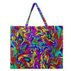 Artwork By Patrick Colorful 18 Zipper Large Tote Bag