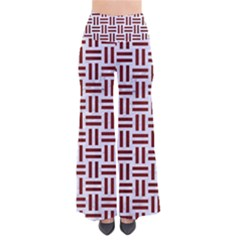 Woven1 White Marble & Red Wood (r) So Vintage Palazzo Pants by trendistuff