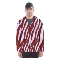Skin3 White Marble & Red Wood Hooded Wind Breaker (men)