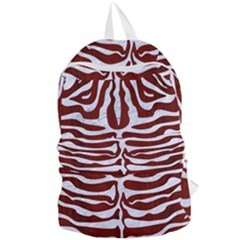 Skin2 White Marble & Red Wood Foldable Lightweight Backpack by trendistuff