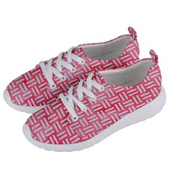 Woven1 White Marble & Red Watercolor Women s Lightweight Sports Shoes by trendistuff