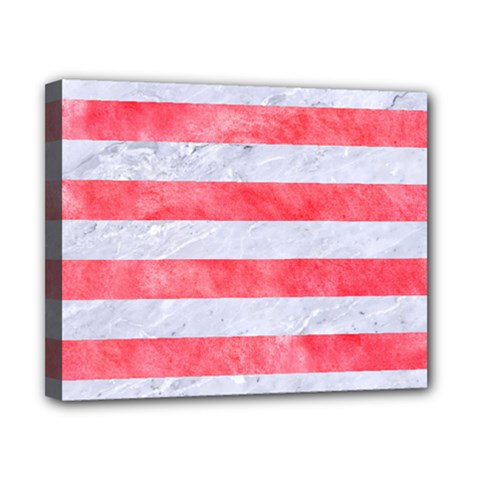 Stripes2white Marble & Red Watercolor Canvas 10  X 8  by trendistuff