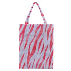 Skin3 White Marble & Red Watercolor (r) Classic Tote Bag by trendistuff