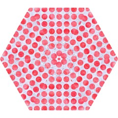 Circles1 White Marble & Red Watercolor (r) Mini Folding Umbrellas