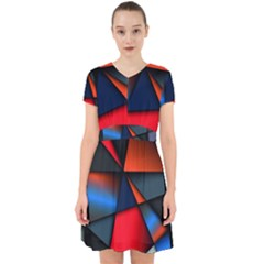 3d And Abstract Adorable In Chiffon Dress