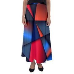 3d And Abstract Flared Maxi Skirt by Sapixe