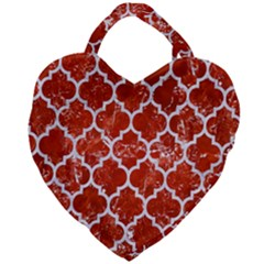 Tile1 White Marble & Red Marble Giant Heart Shaped Tote by trendistuff