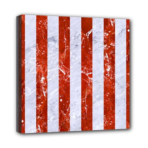 Stripes1 White Marble & Red Marble Multi Function Bag	 by trendistuff