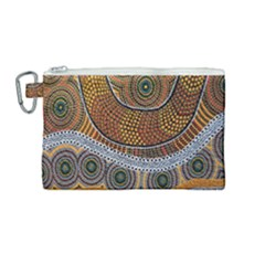 Aboriginal Traditional Pattern Canvas Cosmetic Bag (medium) by Sapixe