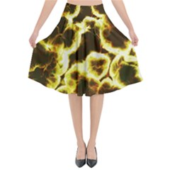 Abstract Pattern Flared Midi Skirt by Sapixe