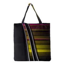 Abstract Multicolor Vectors Flow Lines Graphics Grocery Tote Bag by Sapixe
