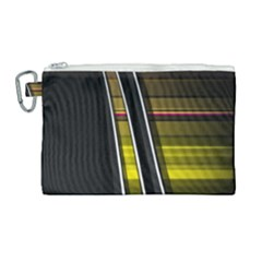 Abstract Multicolor Vectors Flow Lines Graphics Canvas Cosmetic Bag (large) by Sapixe