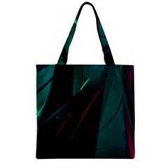 Abstract Green Purple Grocery Tote Bag by Sapixe