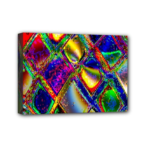 Abstract Digital Art Mini Canvas 7  X 5  by Sapixe