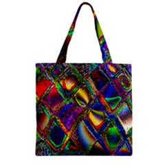 Abstract Digital Art Zipper Grocery Tote Bag
