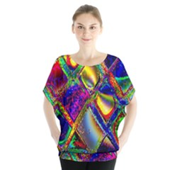 Abstract Digital Art Blouse by Sapixe