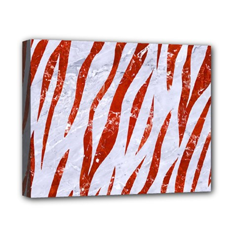 Skin3 White Marble & Red Marble (r) Canvas 10  X 8  by trendistuff