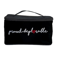 Proud Deplorable Maga Women For Trump With Heart And Handwritten Text Cosmetic Storage Case by MAGA