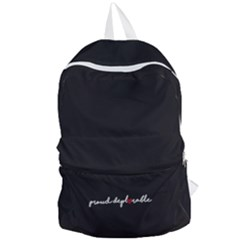 Proud Deplorable Maga Women For Trump With Heart And Handwritten Text Foldable Lightweight Backpack by MAGA