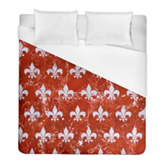Royal1 White Marble & Red Marble (r) Duvet Cover (full/ Double Size) by trendistuff