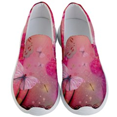 Wonderful Butterflies With Dragonfly Men s Lightweight Slip Ons by FantasyWorld7