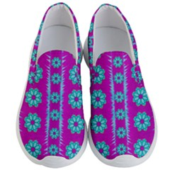 Fern Decorative In Some Mandala Fantasy Flower Style Men s Lightweight Slip Ons by pepitasart