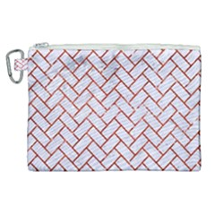 Brick2 White Marble & Red Marble (r) Canvas Cosmetic Bag (xl) by trendistuff