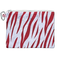 Skin3 White Marble & Red Leather (r) Canvas Cosmetic Bag (xxl) by trendistuff