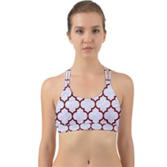 Tile1 White Marble & Red Grunge (r) Back Web Sports Bra