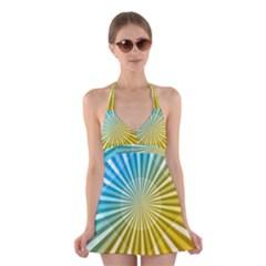 Abstract Art Art Radiation Halter Dress Swimsuit