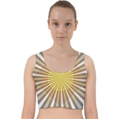 Abstract Art Art Modern Abstract Velvet Racer Back Crop Top