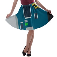 Amphisbaena Two Platform Dtn Node Vector File A Line Skater Skirt