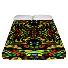 Artwork By Patrick Colorful 19 Fitted Sheet (queen Size)