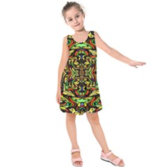 Artwork By Patrick Colorful 19 Kids  Sleeveless Dress