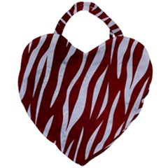 Skin3 White Marble & Red Grunge Giant Heart Shaped Tote by trendistuff