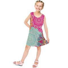 Art Abstract Pattern Kids  Tunic Dress