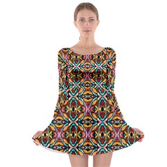 Colorful 20 Long Sleeve Skater Dress