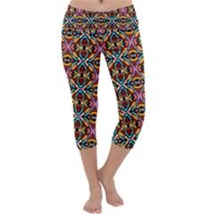 Colorful 20 Capri Yoga Leggings by ArtworkByPatrick