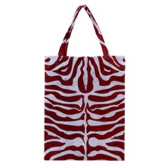Skin2 White Marble & Red Grunge Classic Tote Bag by trendistuff