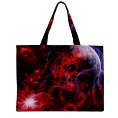 Art Space Abstract Red Line Zipper Mini Tote Bag by Sapixe