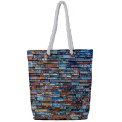 Colorful 21 Full Print Rope Handle Tote (small)