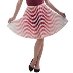 Art Abstract Art Abstract A Line Skater Skirt