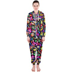Artwork By Patrick Colorful 24 Hooded Jumpsuit (ladies)