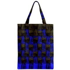 Basket Weave Zipper Classic Tote Bag