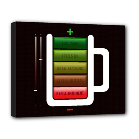 Black Energy Battery Life Deluxe Canvas 20  X 16   by Sapixe